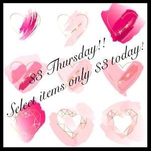 🌺$3 THURSDAY!🌺 Select items ☀️ Bundle up!